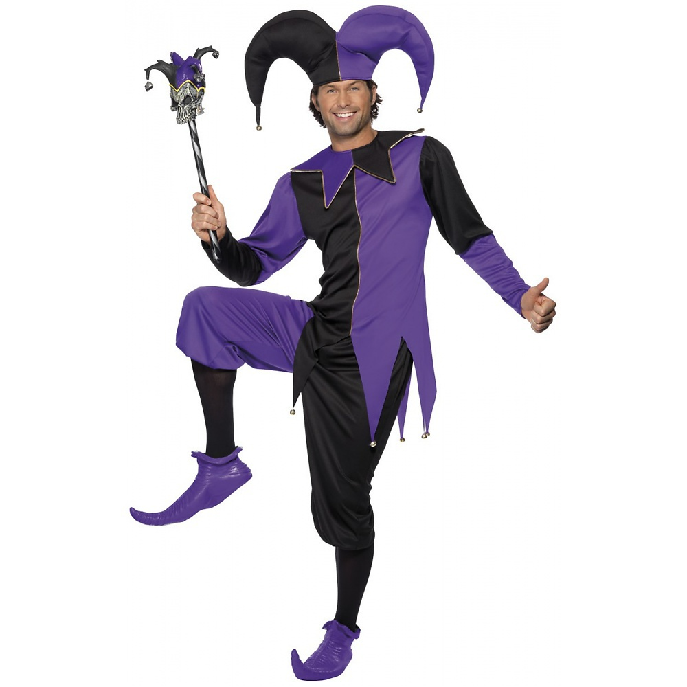 Medieval Jester Adult Costume - Medium