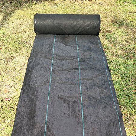 agfabric landscape ground cover 6x50ft heavy duty pp woven weed barrier soil erosion control and. Black Bedroom Furniture Sets. Home Design Ideas