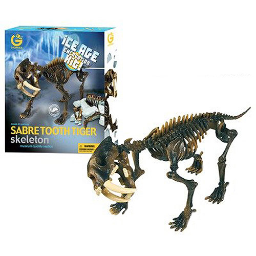 GeoWorld Ice Age Excavation Kit, Sabre Tooth Tiger