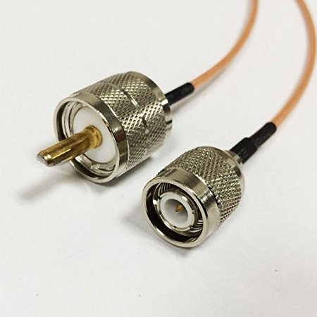 UHF male PL259 to TNC male plug pigtail cable RG316 15cm 6