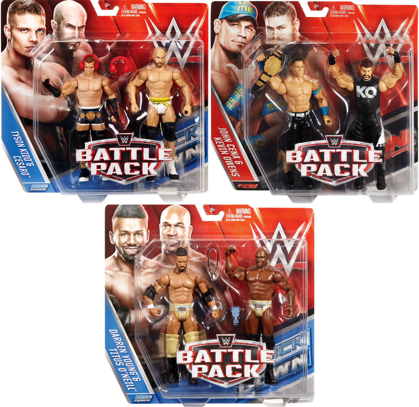 WWE Battle Packs 39 - Complete Set of 3 2-Packs WWE Toy Wrestling Action Figures