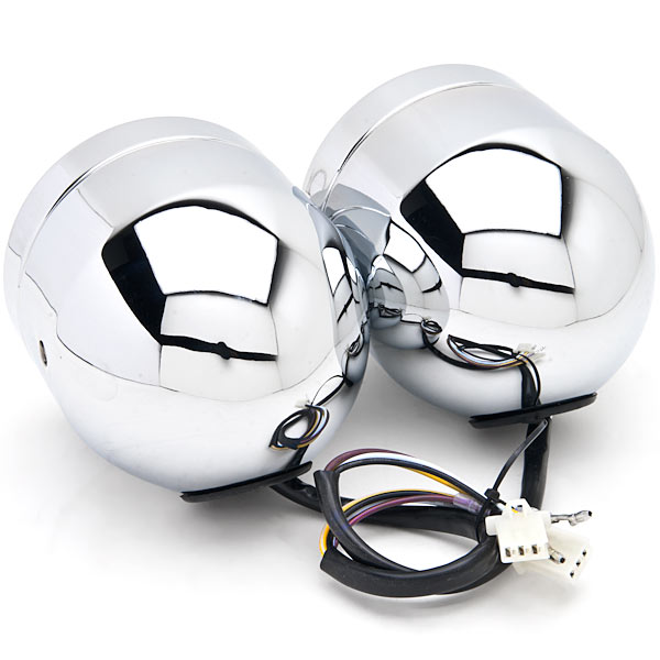 Chrome Twin Headlight Motorcycle Double Dual Lamp For Honda Gold Wing Goldwing 1200 1500 1800 - image 2 of 6