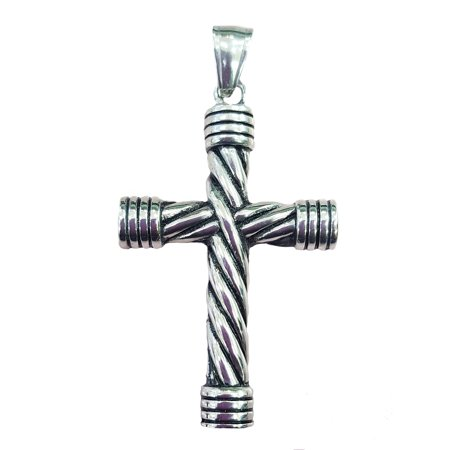 Stainless Steel 316L Iron Cross with Skull Pendant (Necklace not Included)