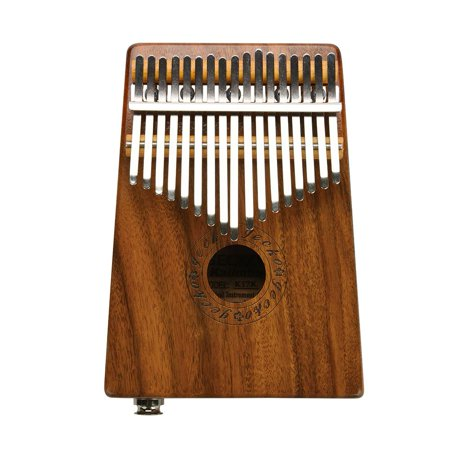 HERCHR Kalimba 17 Keys Thumb Piano Solid Finger Piano Mahogany Body with Tuning Hammer Study Instruction Carry Case - Best Birthday Christmas Gift for Music Fans Kids Adults (Mahogany