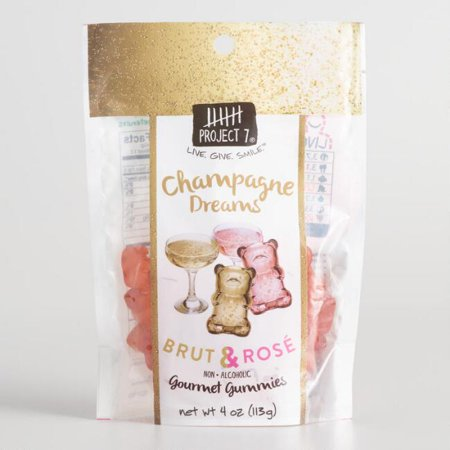 Project 7 Champagne Dreams Gummy Candy (Pack of 1) - Champagne Candy