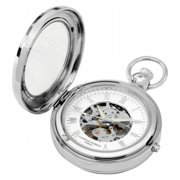 Charles-Hubert- Paris 3849 Mechanical Picture Frame Pocket Watch with Demi Hunter
