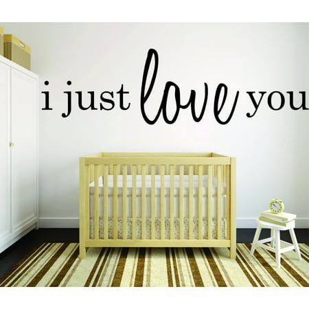1037 Vinyl (Decal Wall Sticker : I Just Love You Quote 20x40)