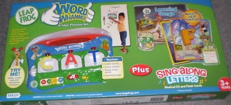 LeapFrog Word Whammer Fridge Phonics Set Plus Sing-aLong Letters Musical CD and Flash Cards by
