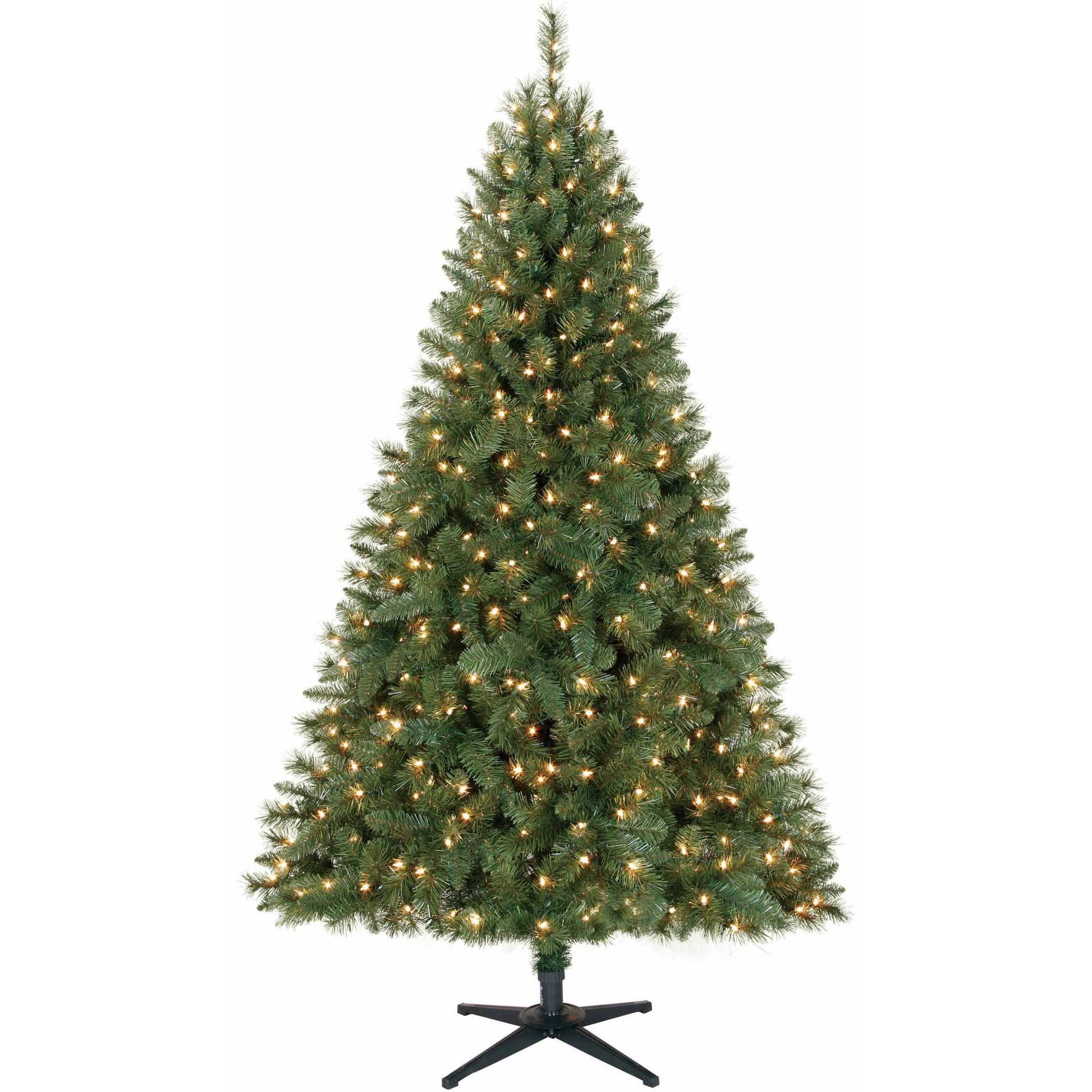 Artificial Christmas Tree Pre-Lit 6.5' Windham Pine, Clear Lights ...