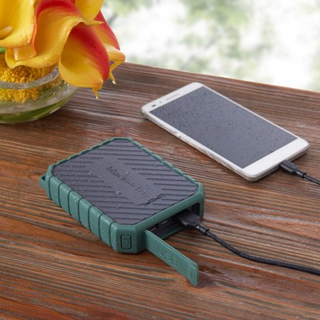 Blackweb 10,400 mAh Rugged Portable Battery 4X Extra Charges, Forest