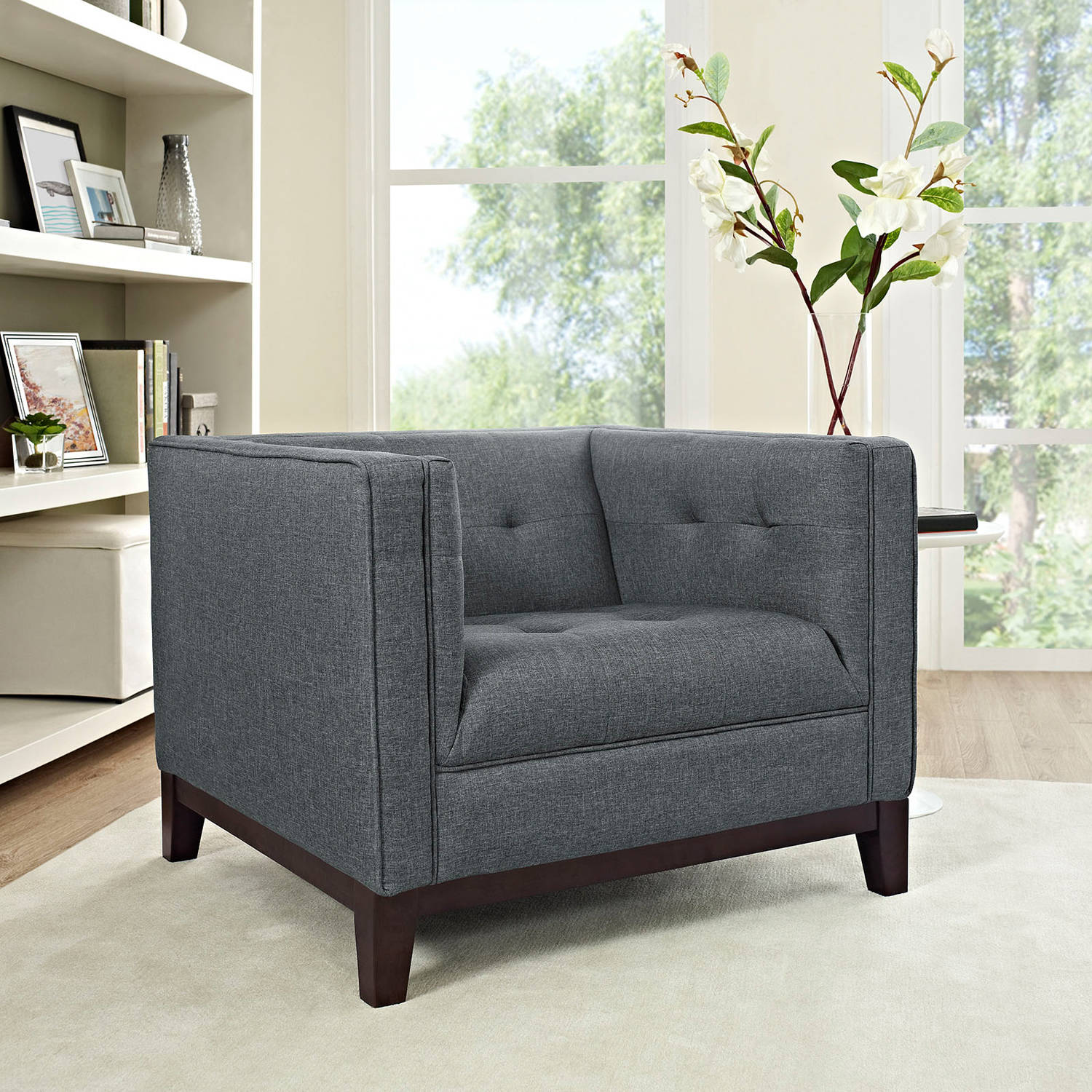 Modway Serve Upholstered Tufted Armchair, Multiple Colors by Modway