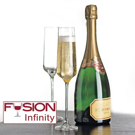 Wine Enthusiast 7340404 Fusion Infinity Champagne Flutes, 4 Pack