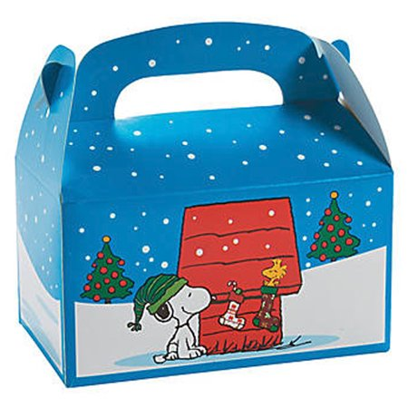 Peanuts Snoopy Christmas Favor Boxes - Snoopy Party Favors