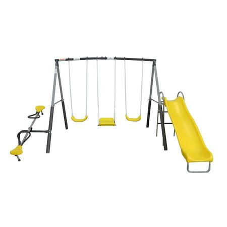 XDP Recreation Swingin Again Metal Swing Set with Slide