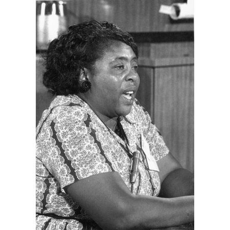 Fannie Lou Hamer (1917-1977) Namerican Civil Rights Activist Speaking As A Member Of The Mississippi Freedom Democratic Party At The Democratic National Convention In Atlantic City New Jersey August 1 - Party City Union New Jersey