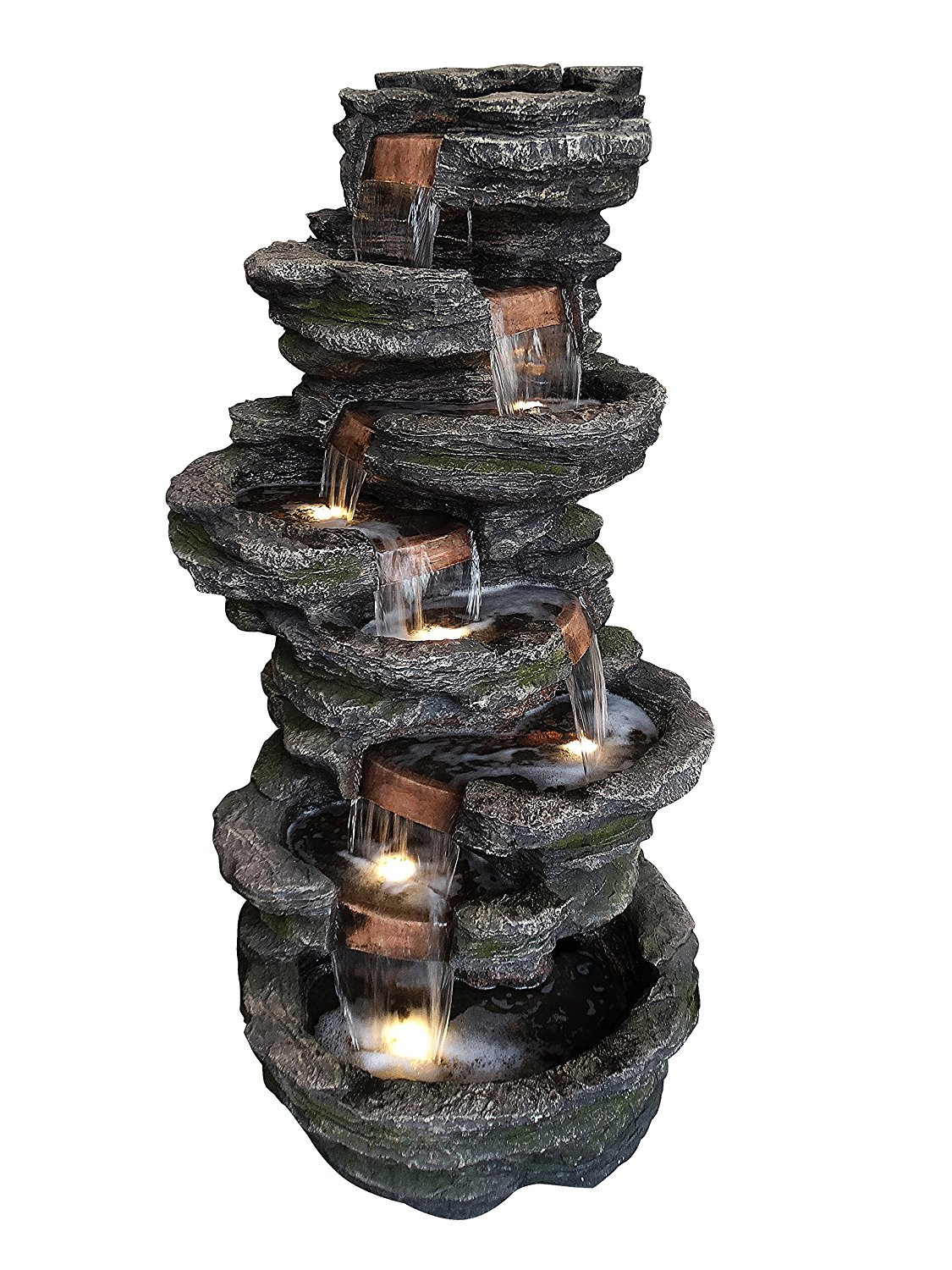 Alpine Stone Look Multiple Tiered Fountain, 58 Inch Tall by Alpine Corporation