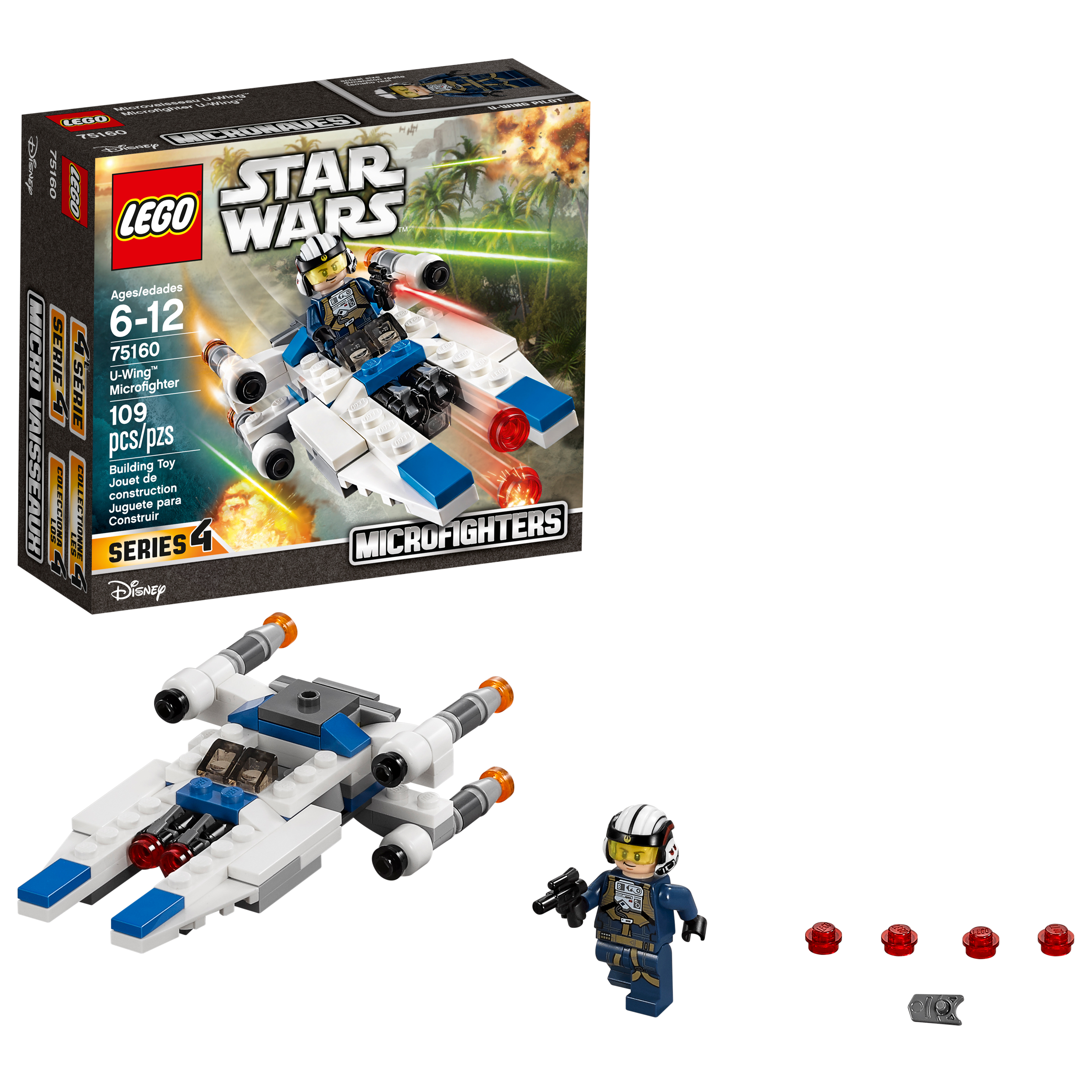 LEGO Star Wars™ U-Wing™ Microfighter 75160 (109 Pieces)