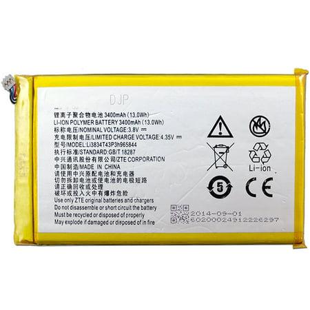 New 3400mAh Battery For ZTE N5 Z797C V9815 X5S V5S N5L N5S, T Mobile & Metropcs ZTE ZMAX Z970 Li3834T43P3h965844 (Backup Battery For Zte Zmax)