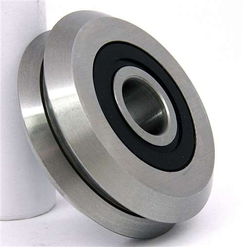"RM2-2RS 3/8"" V-Groove Guide Bearing Sealed Vgrooved"