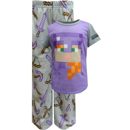 Minecraft Alex In Armor Pajamas Size 4 - Girls In Minecraft