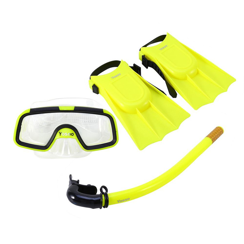 Estink Children Kids Snorkeling Mask Snorkel Set Swimming Diving Silicone Fins with Snorkel Scuba Eyeglasses and Mask... by