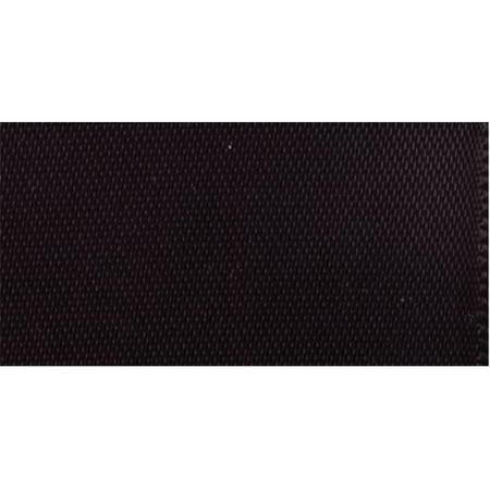 42247 Single Fold Satin Blanket Binding 2 in. 4.75 Yards-Black
