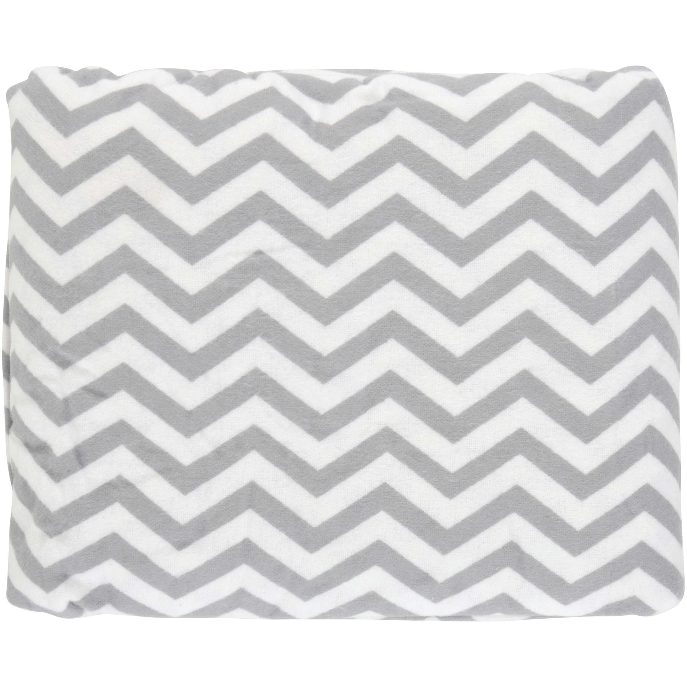 TL Care 100 Percent Cotton Flannel Fitted Crib Sheet for Standard Crib and Toddler Mattresses, Gray Zigzag