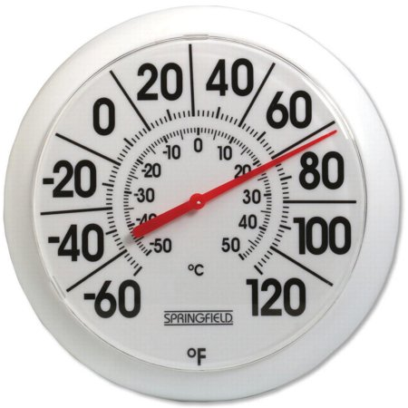 Habitat Thermometer - 8-Inch Diameter White Outdoor Dial Thermometer