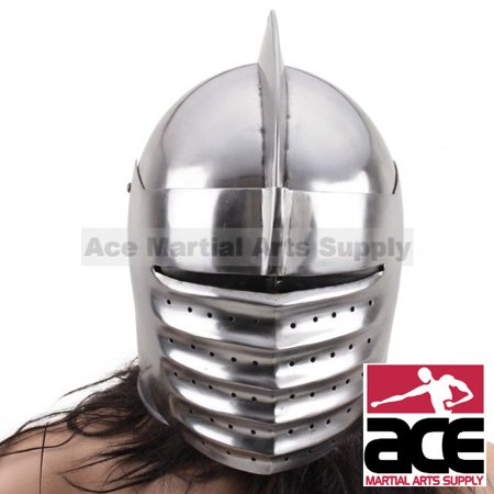 Medieval Knight Helmet: Italian Armor Costume - One Size Fits Most Adult (Armored Knight Costume)