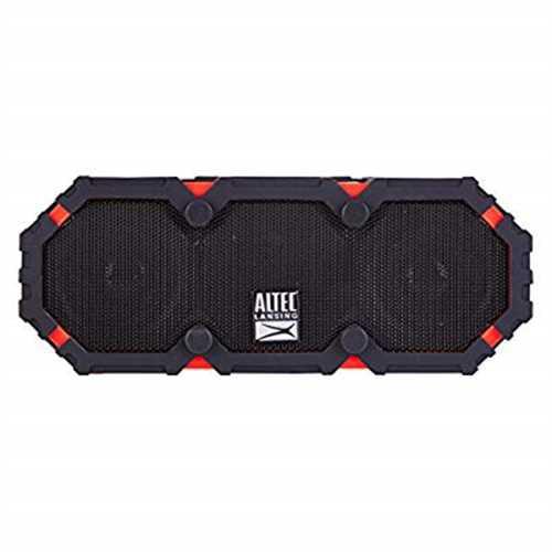 Refurbished Altec Lansing IMW477 Mini Life Jacket 2 Waterproof Bluetooth Speaker, Red/Black