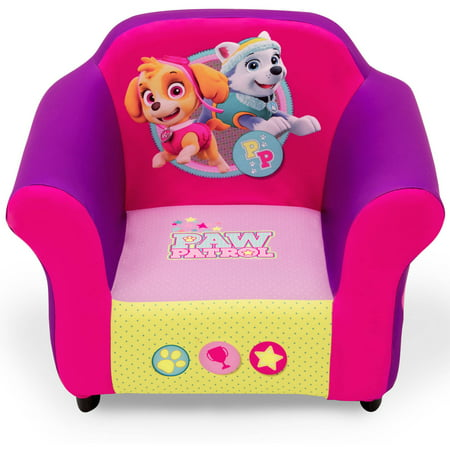 Nick Jr. PAW Patrol Skye & Everest Kids Upholstered Chair with Sculpted Plastic Frame by Delta Children