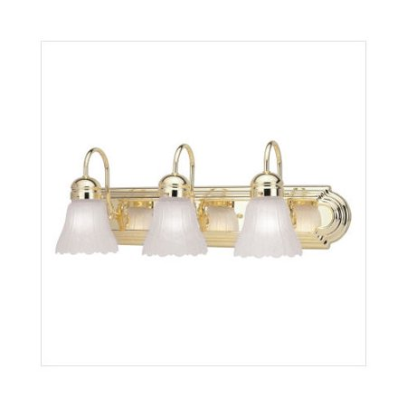 Livex Lighting Belmont Vanity Light In Polished Brass