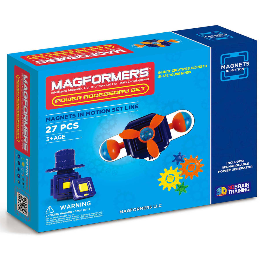 Magformers Magnets in Motion Power Accessory 27-Piece Magnetic Construction Set by Magformers