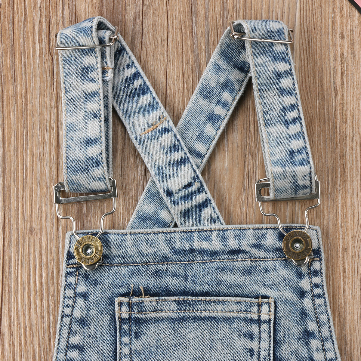 bdb6600c6d39 Baby Little Girls Boys Kids Denim Bib Short Overalls Denim Jumpsuit  Boyfriend Jeans Denim Romper Shortalls - Walmart.com