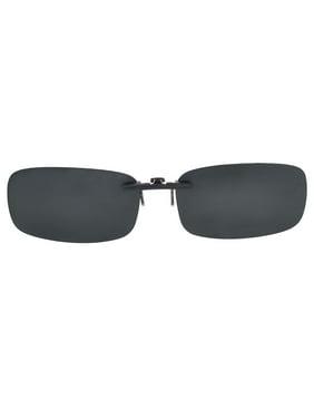 42197addb806 Product Image Black Sunglasses Polarized Lens Clip On Regular Eyewear  Glasses for Men Women. Unique Bargains