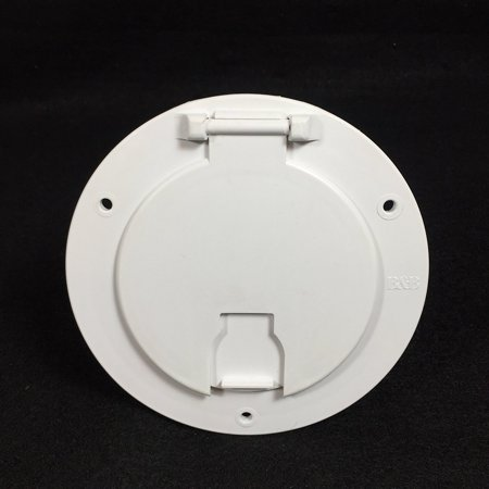 RAND NEW WHITE RV CAMPER TRAILER MOTORHOME POWER CORD HATCH / COVER By B Ship from