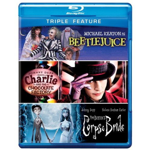 Beetlejuice / Charlie And The Chocolate Factory / Tim Burton's Corpse Bride (Blu-ray)