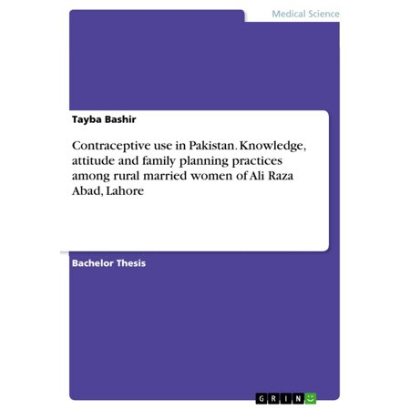 Contraceptive use in Pakistan. Knowledge, attitude and family planning practices among rural married women of Ali Raza Abad, Lahore -