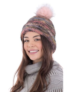 Womens Winter Warm Braided Crochet Knit Baggy Beret Ski Cap Beanie Hat