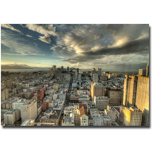 "Trademark Fine Art ""San Francisco Downtown"" Canvas Wall Art by Ariane Moshayedi"