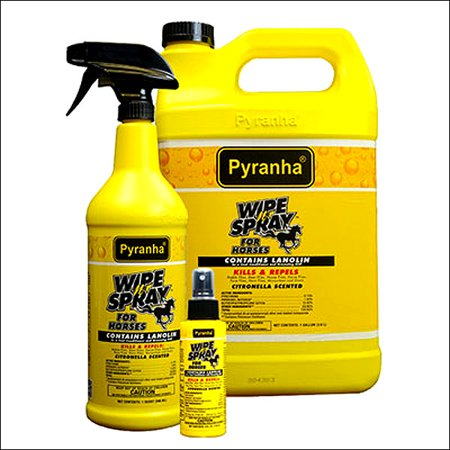 PYRANHA HORSE REPELS  WATER RESSISTENT WIPE N FLY PROTECTION SPRAY 4 - Ultra Shield Fly Spray