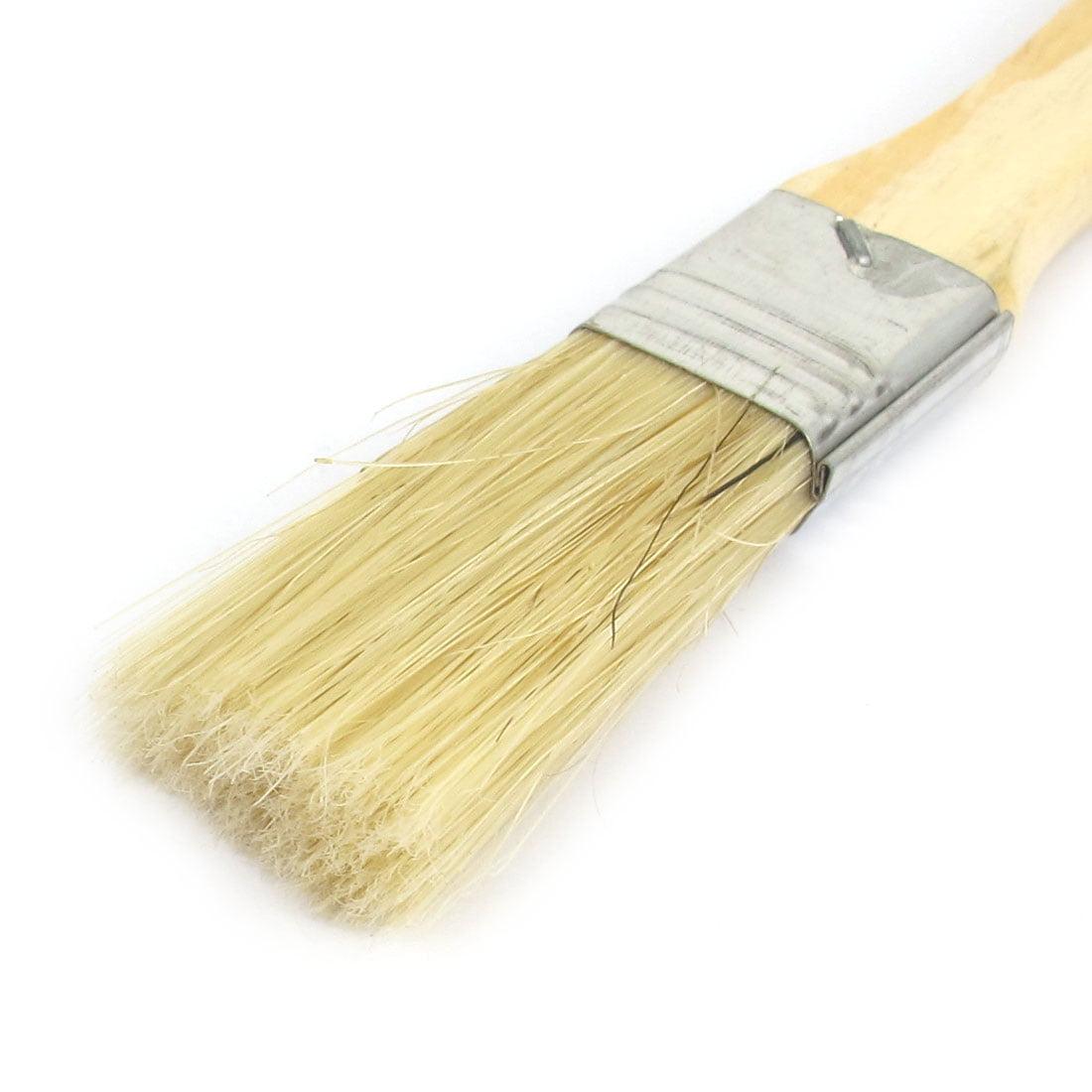 "1"" Width Soft Bristle Wooden Handle Painting Drawing Oil Paint Brush Pen 5pcs - image 1 of 2"