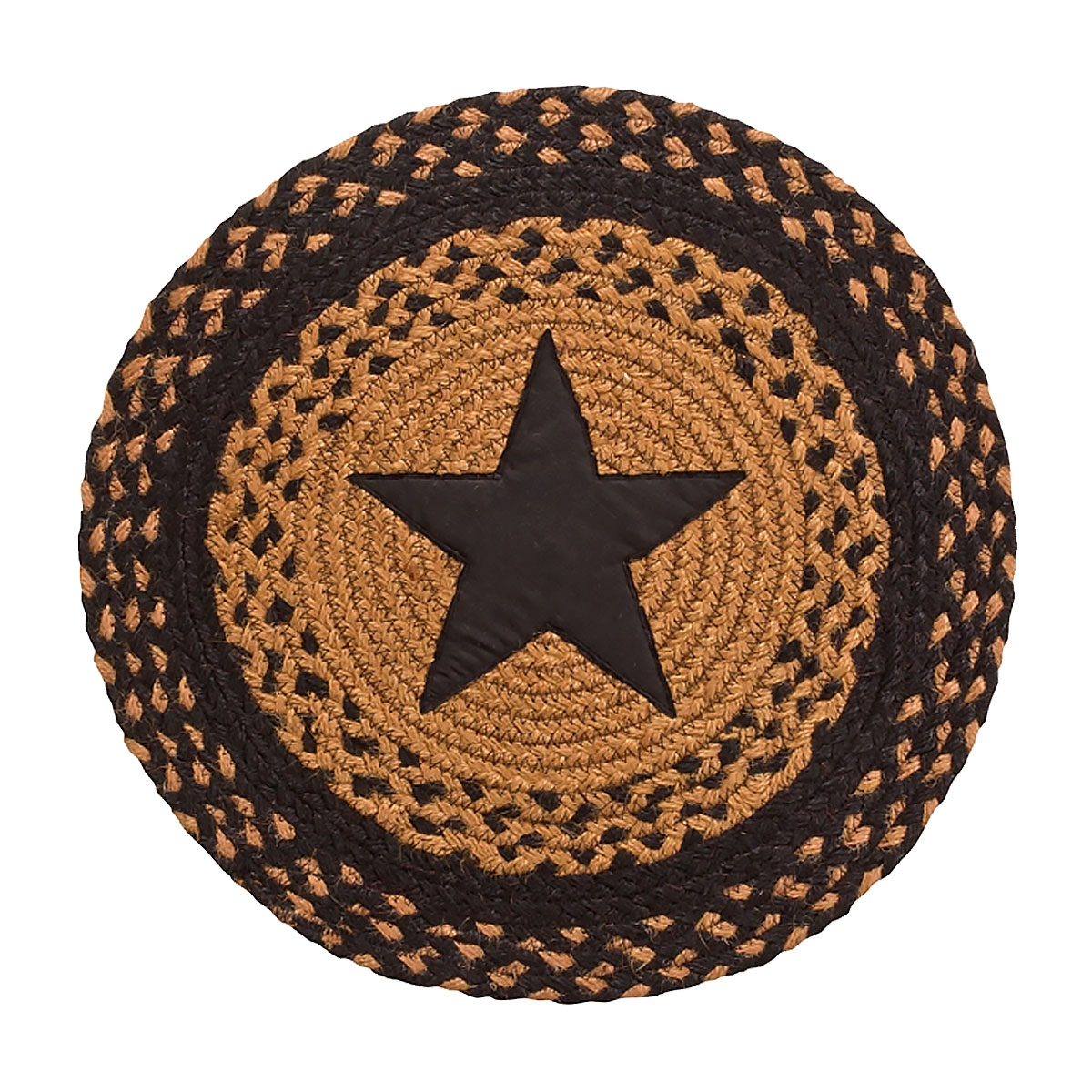 Braided Chair Pads Country Primitive by IHF Set of 4 by IHF Limited