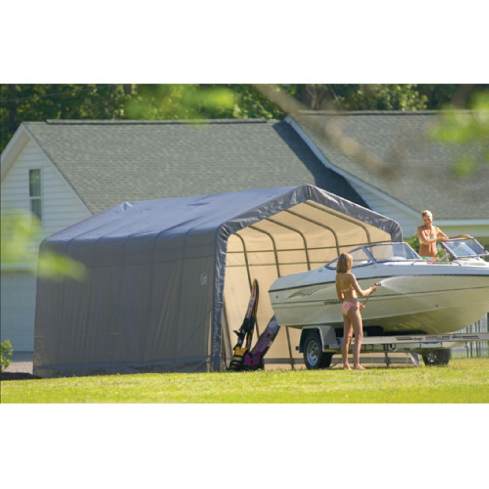 Shelterlogic 13' x 24' x 10' Peak Style Carport Shelter