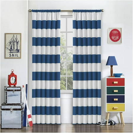 eclipse peabody kids bedroom blackout curtain panel