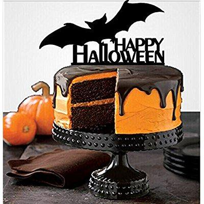 Halloween Cat Cake Ideas ([usa-sales] halloween cake topper sellection, happy halloween cake toppers party decorations, by usa-sales seller (style)