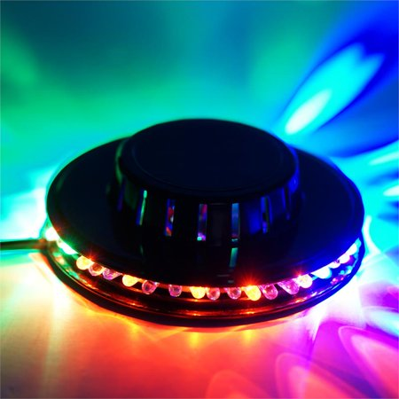 Blue Led Spotlight (BalsaCircle Red Green Blue Round LED Disco Spotlight - Wedding Party Decorations)