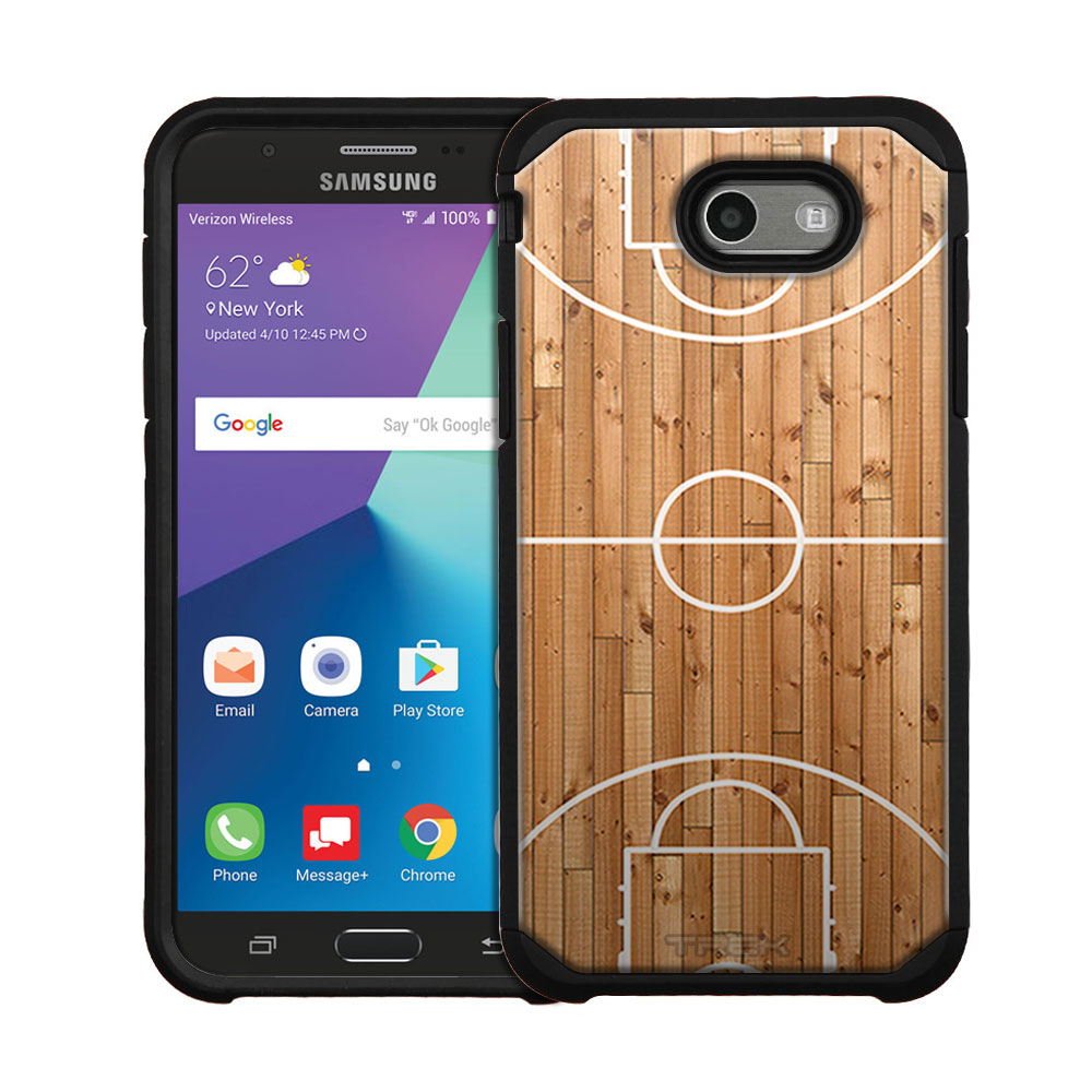 Samsung Galaxy J7 Sky Pro Hybrid Slim Case - Basketball Court