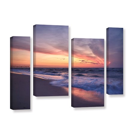 Artwall Outer Banks Sunset I By Dan Wilson 4 Piece Photographic Print On Wrapped Canvas Staggered Set