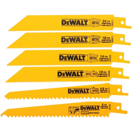 DeWalt® High Performance-Bi-Metal Blades 6 ct Pack